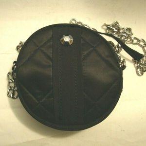 LIZ CLAIBORNE Black Small Round Crossbody Bag